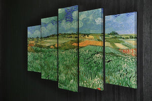 Plain Near Auvers by Van Gogh 5 Split Panel Canvas - Canvas Art Rocks - 2