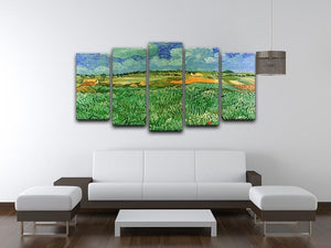 Plain Near Auvers by Van Gogh 5 Split Panel Canvas - Canvas Art Rocks - 3