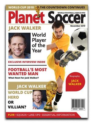 Planet Soccer Magazine Cover Spoof Canvas Print