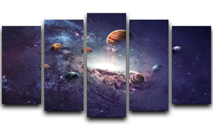 Planets in the solar system 5 Split Panel Canvas  - Canvas Art Rocks - 1