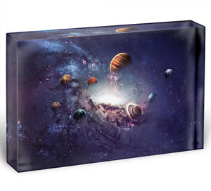 Planets in the solar system Acrylic Block - Canvas Art Rocks - 1