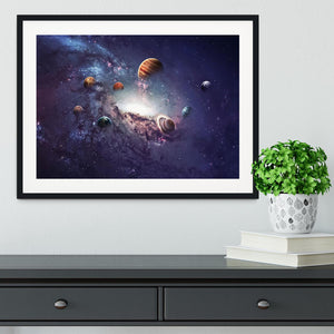 Planets in the solar system Framed Print - Canvas Art Rocks - 1