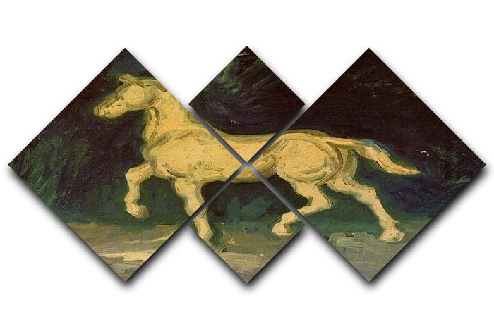Plaster Statuette of a Horse by Van Gogh 4 Square Multi Panel Canvas