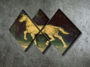 Plaster Statuette of a Horse by Van Gogh 4 Square Multi Panel Canvas - Canvas Art Rocks - 2