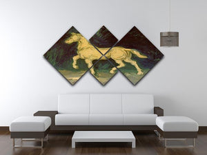 Plaster Statuette of a Horse by Van Gogh 4 Square Multi Panel Canvas - Canvas Art Rocks - 3