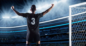 Player Celebrating a Goal Wall Mural Wallpaper - Canvas Art Rocks - 1