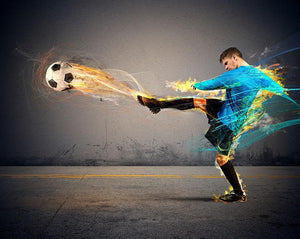Player throws fireballs at opponents Wall Mural Wallpaper - Canvas Art Rocks - 1