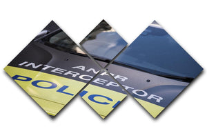 Police car 4 Square Multi Panel Canvas  - Canvas Art Rocks - 1