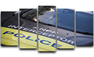 Police car 5 Split Panel Canvas  - Canvas Art Rocks - 1