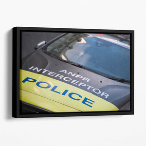 Police car Floating Framed Canvas