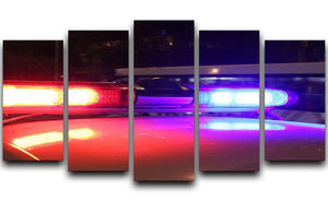 Police lights 5 Split Panel Canvas  - Canvas Art Rocks - 1