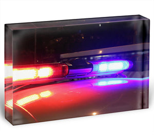 Police lights Acrylic Block - Canvas Art Rocks - 1