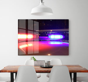 Police lights HD Metal Print