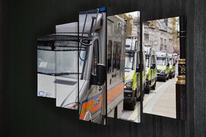 Police vans in a row 5 Split Panel Canvas  - Canvas Art Rocks - 2