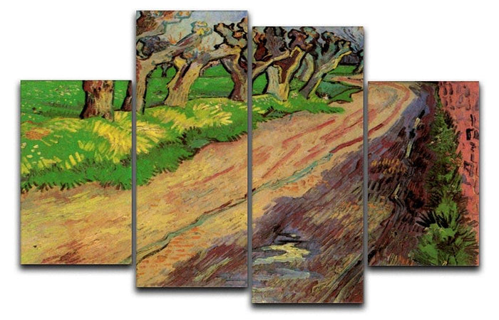 Pollard Willows by Van Gogh 4 Split Panel Canvas
