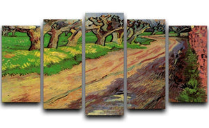 Pollard Willows by Van Gogh 5 Split Panel Canvas  - Canvas Art Rocks - 1