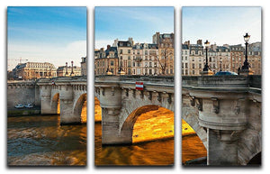 Pont neuf Ile de la Cite 3 Split Panel Canvas Print - Canvas Art Rocks - 1