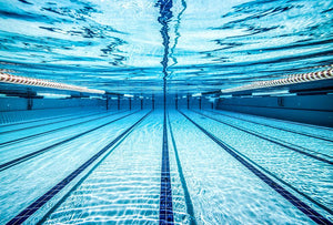 Pool under water Wall Mural Wallpaper - Canvas Art Rocks - 1