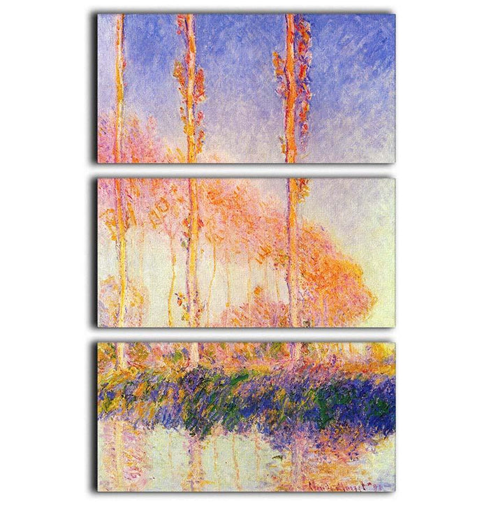Poplars 2 by Monet 3 Split Panel Canvas Print