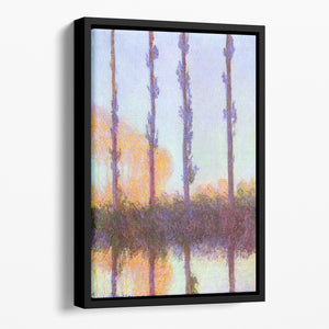 Poplars 3 by Monet Floating Framed Canvas
