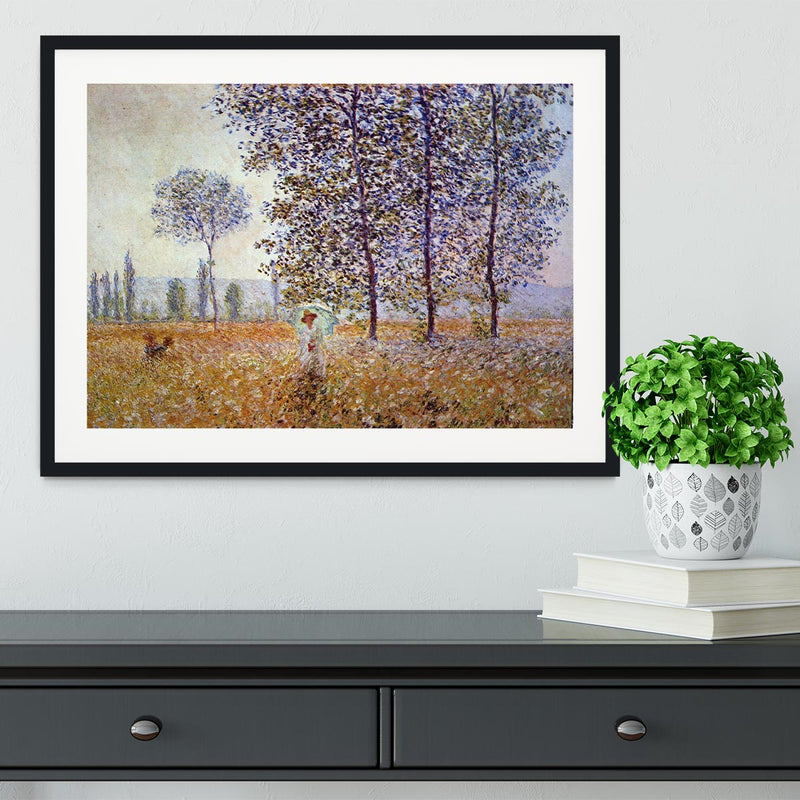 Poplars in the sunlight by Monet Framed Print - Canvas Art Rocks - 1