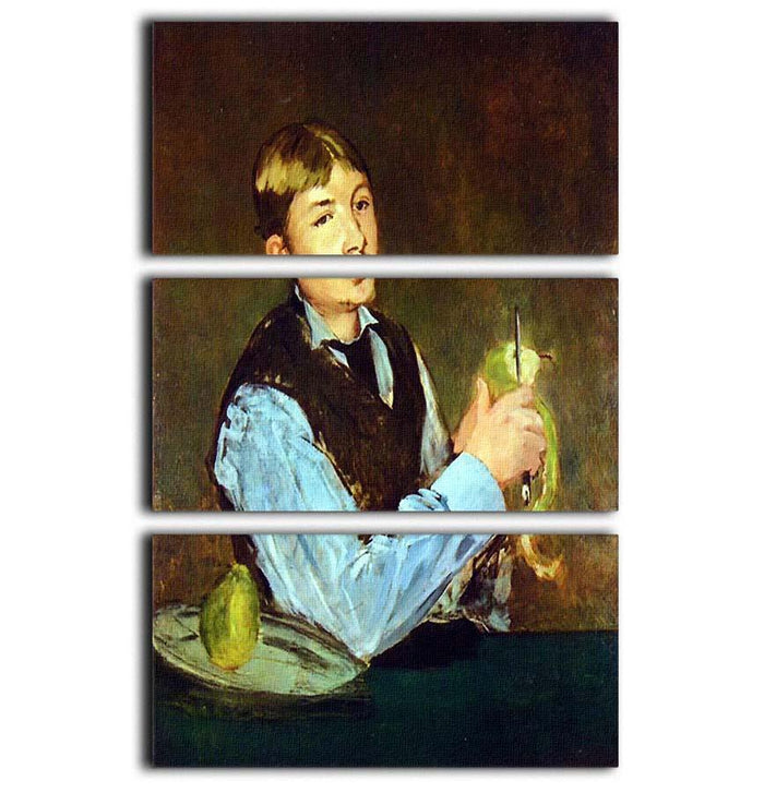 Portait of Leon Leenhoff by Manet 3 Split Panel Canvas Print