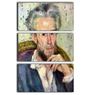 Portait of Victor Chocquet 2 by Renoir 3 Split Panel Canvas Print - Canvas Art Rocks - 1