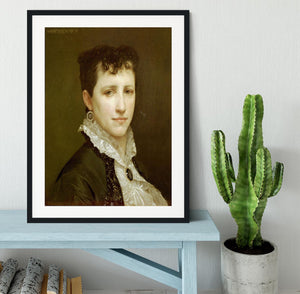 Portrait de Mademoiselle Elizabeth Gardner By Bouguereau Framed Print - Canvas Art Rocks - 1