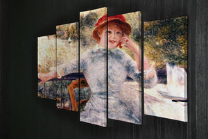 Portrait of Alphonsine Fournaise by Renoir 5 Split Panel Canvas - Canvas Art Rocks - 2