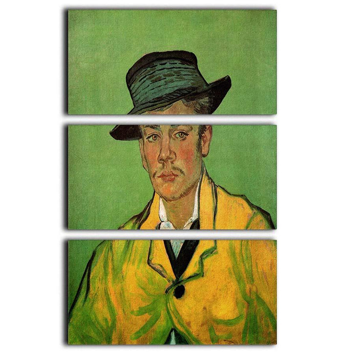 Portrait of Armand Roulin by Van Gogh 3 Split Panel Canvas Print