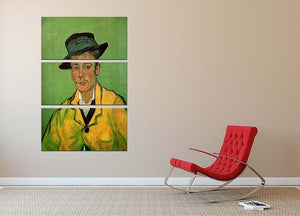 Portrait of Armand Roulin by Van Gogh 3 Split Panel Canvas Print - Canvas Art Rocks - 2