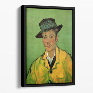 Portrait of Armand Roulin by Van Gogh Floating Framed Canvas