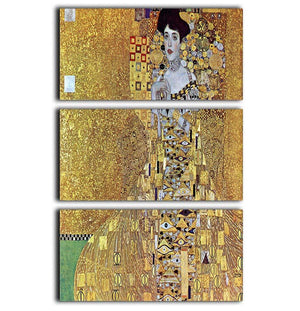 Portrait of Block Bauer 2 by Klimt 3 Split Panel Canvas Print - Canvas Art Rocks - 1
