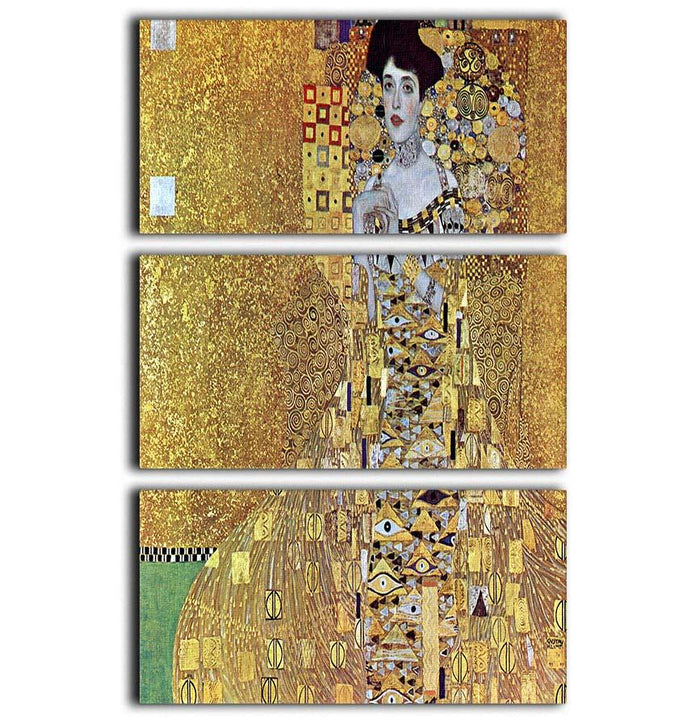 Portrait of Block Bauer 2 by Klimt 3 Split Panel Canvas Print