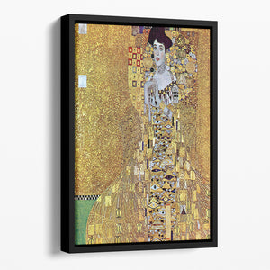 Portrait of Block Bauer 2 by Klimt Floating Framed Canvas