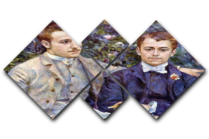 Portrait of Charles and George by Renoir 4 Square Multi Panel Canvas