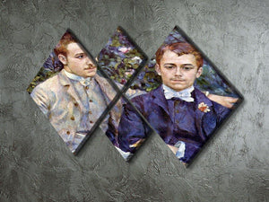 Portrait of Charles and George by Renoir 4 Square Multi Panel Canvas - Canvas Art Rocks - 2