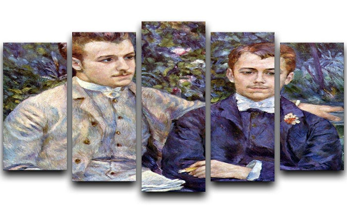 Portrait of Charles and George by Renoir 5 Split Panel Canvas