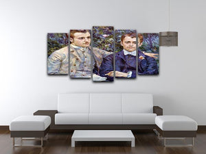 Portrait of Charles and George by Renoir 5 Split Panel Canvas - Canvas Art Rocks - 3