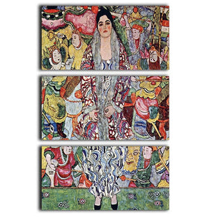 Portrait of Frederika Maria Beer by Klimt 3 Split Panel Canvas Print - Canvas Art Rocks - 1
