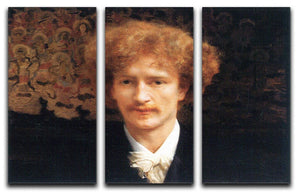 Portrait of Ignaz Jan Paderewski by Alma Tadema 3 Split Panel Canvas Print - Canvas Art Rocks - 1