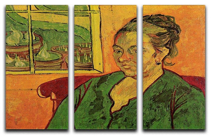 Portrait of Madame Augustine Roulin by Van Gogh 3 Split Panel Canvas Print