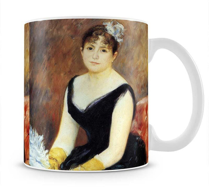 Portrait of Madame Clapisson by Renoir Mug