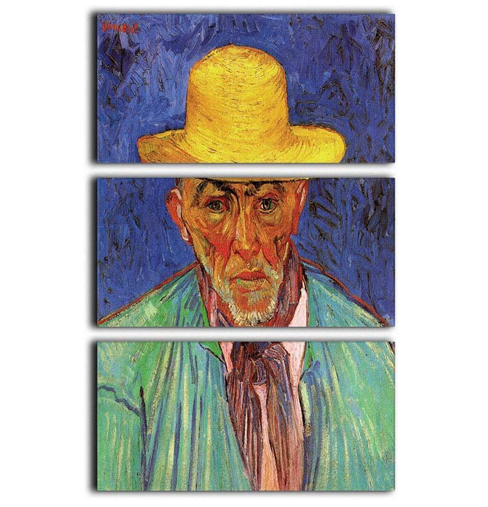 Portrait of Patience Escalier Shepherd in Provence by Van Gogh 3 Split Panel Canvas Print