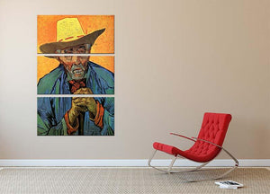 Portrait of Patience Escalier by Van Gogh 3 Split Panel Canvas Print - Canvas Art Rocks - 2