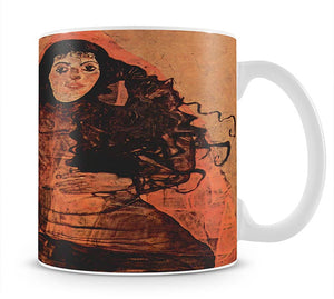 Portrait of Trude Engel by Egon Schiele Mug - Canvas Art Rocks - 1