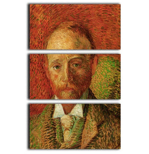 Portrait of the Art Dealer Alexander Reid by Van Gogh 3 Split Panel Canvas Print - Canvas Art Rocks - 1