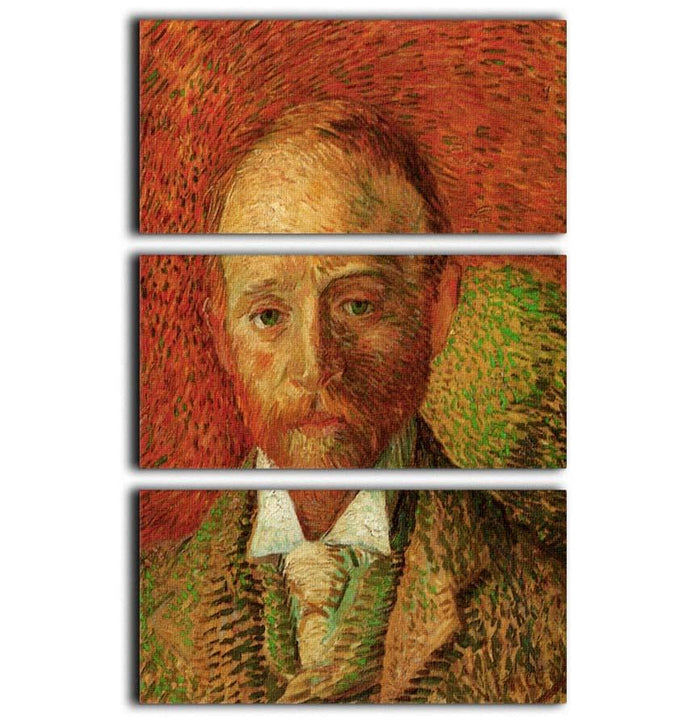 Portrait of the Art Dealer Alexander Reid by Van Gogh 3 Split Panel Canvas Print