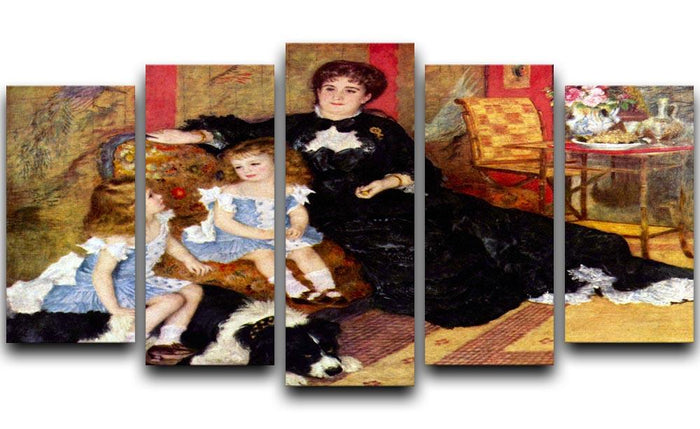 Portrait of the Mrs Charpentier and her children by Renoir 5 Split Panel Canvas