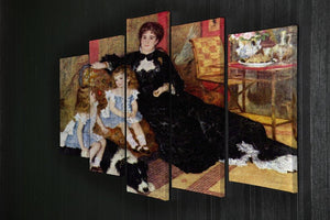 Portrait of the Mrs Charpentier and her children by Renoir 5 Split Panel Canvas - Canvas Art Rocks - 2